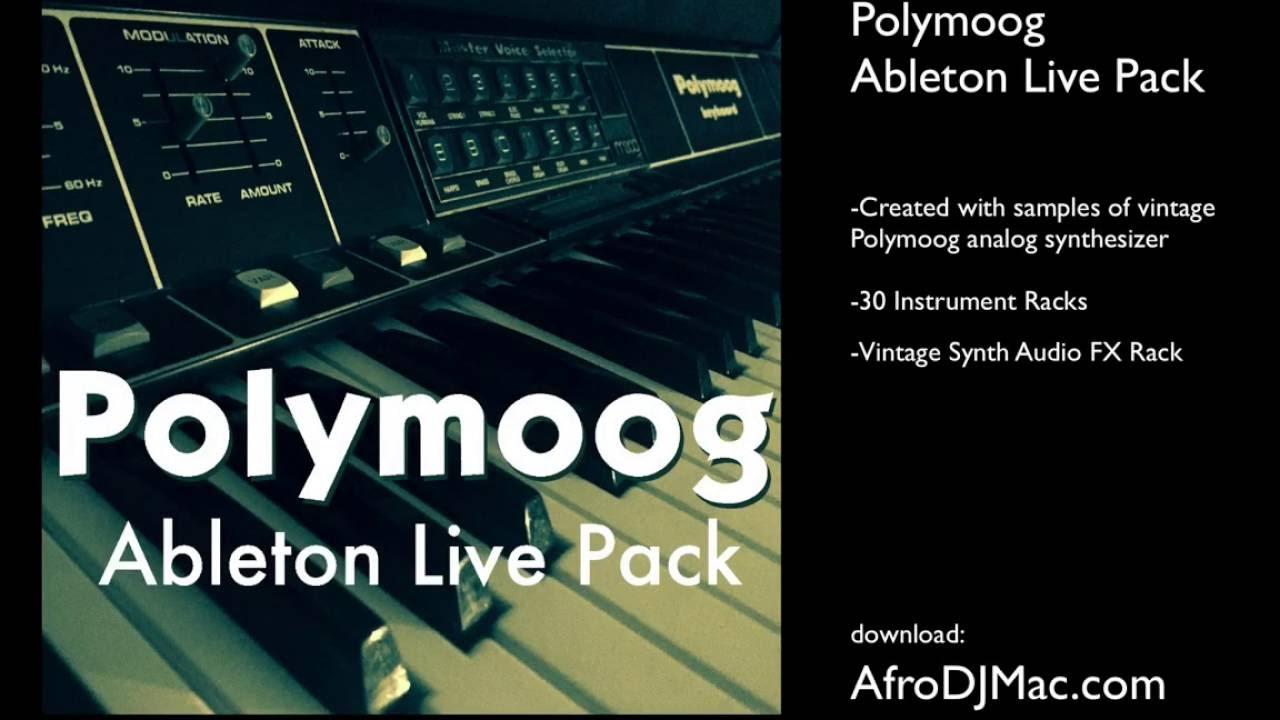 Polymoog Ableton Live Pack