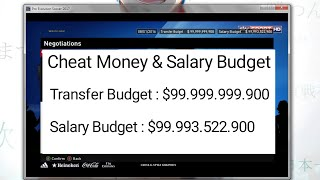 Cheat Money & Salary Budget || PES 2017