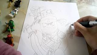 NINJAGO TEAM Drawing