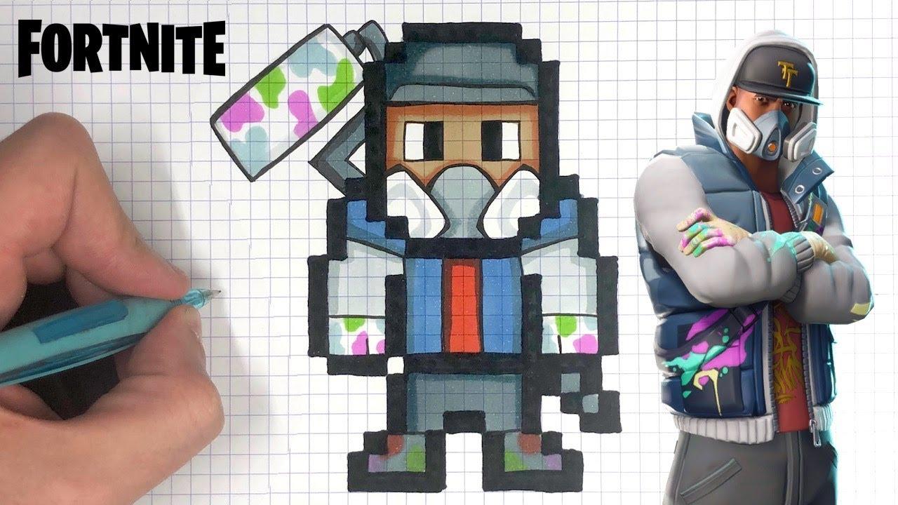 How To Draw Abstrakt Pixel Art Fortnite Skin