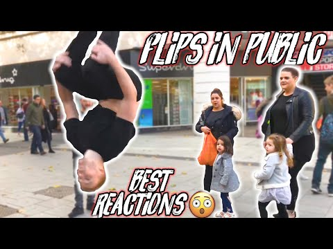 FLIPS IN PUBLIC! | BEST REACTIONS SO FAR