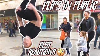 FLIPS IN PUBLIC! | BEST REACTIONS SO FAR 😮 | FLIPS & KICKS