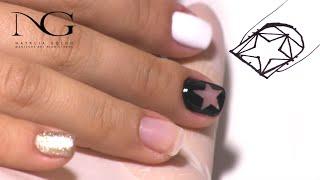 Дизайн ногтей - как нарисовать звездочку. Часть 1 / Nail Design - how to draw a star. Part 1(Все о ногтевом мире - обучающие видео по наращиванию акрилом и гелем, правила правильного выполнения маникю..., 2015-09-15T07:22:01.000Z)