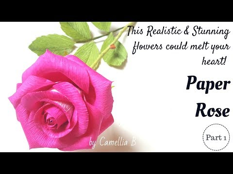 Tags of realistic rose making cat meme tube diy crepe paper flower how to make garden rose part 1 realistic mightylinksfo