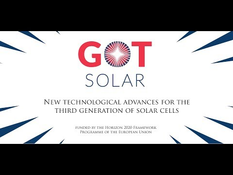 GOTSolar - New technological advances for the third generation of Solar cells