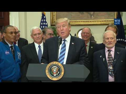 President Trump Signs the Space Council Executive Order