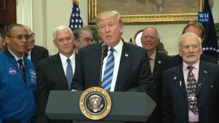 President Trump Signs the Space Council Executive Order thumbnail