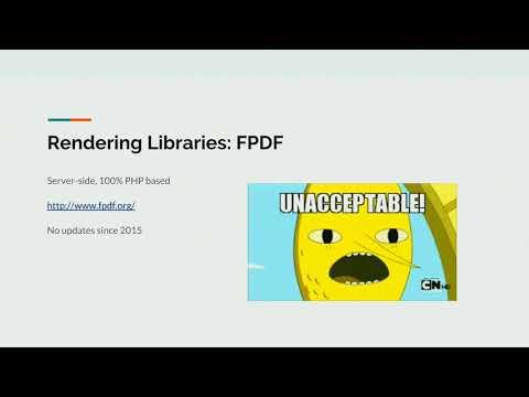 PDFs in Drupal | DrupalCon