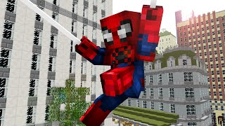 One day as Spiderman ! - Craftronix Minecraft Animation
