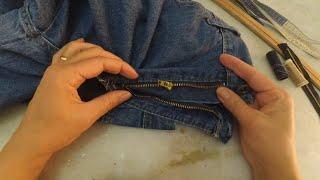 Como trocar zíper de calça jeans sem máquina de costura (passo a passo)