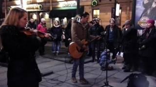 Новогодний Санкт Петербург Уличные музыканты