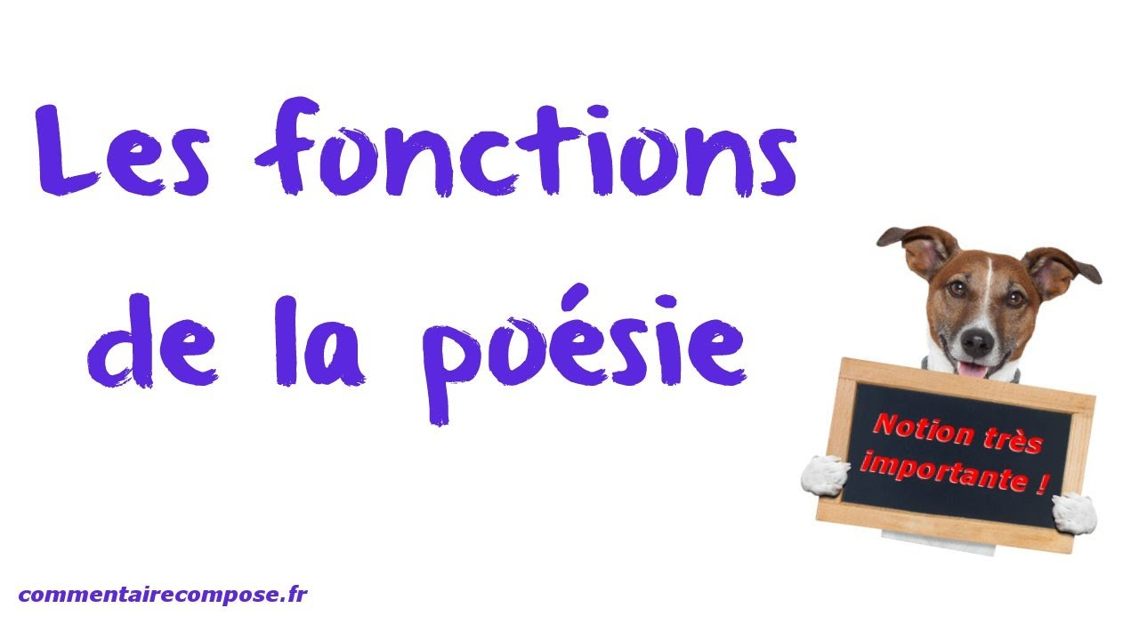 Les Fonctions De La Po 233 Sie Youtube