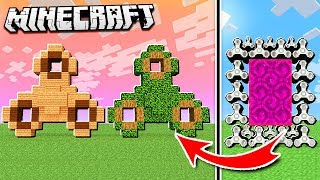 Make a PORTAL to the FIDGET SPINNER DIMENSION in Minecraft!