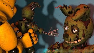 FNAF Springbonnie vs Possessed Springtrap (Fight FNAF Animations)