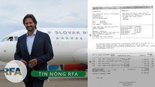 Tin nóng RFA | Phát hiện hóa đơn vụ thuê máy bay Slovakia chở Trịnh Xuân Thanh sang Nga