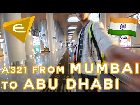 FLYING ETIHAD AIRWAYS A321 FROM MUMBAI TO ABU DHABI! (HD)