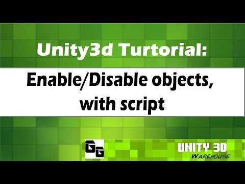 Unity Enable Disable objects, with script