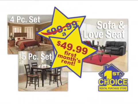 1st Choice Rent To Own Furniture TV Commercial (1043 A)