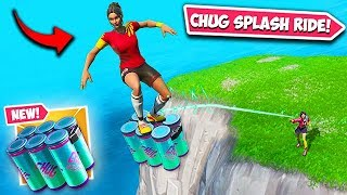 *NEW* INSANE CHUG SPLASH TRICK!! - Fortnite Funny Fails and WTF Moments! #596