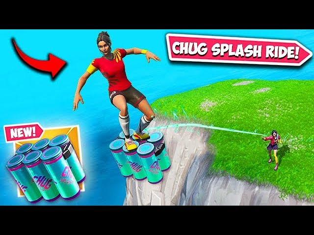 INSANE CHUG SPLASH RIDE TRICK!! - Fortnite Funny Fails and WTF Moments! #596