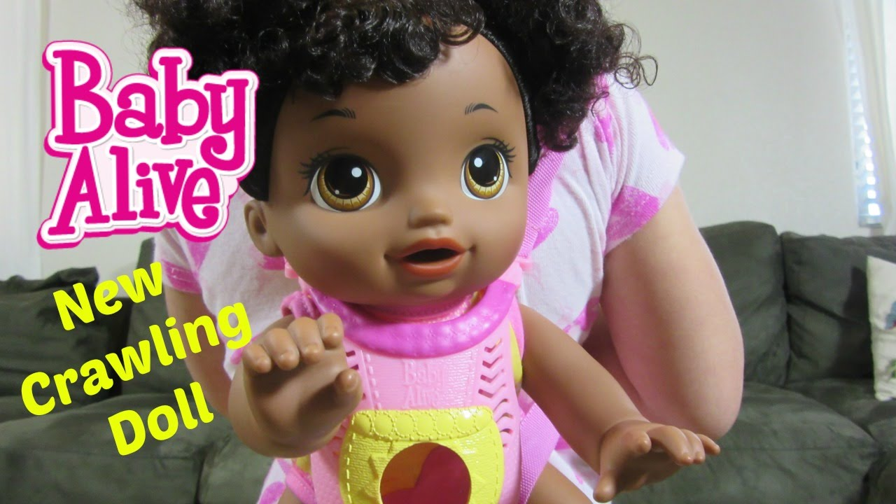 New Crawling Baby Alive Go Bye Bye Doll Unboxing Youtube