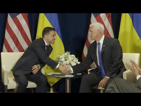 Rencontre entre Mike Pence et le président ukrainien à Varsovie | AFP Images