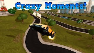 CRAZY Stunts, Funny moments and glitches! | ROBLOX: Vehicle Simulator