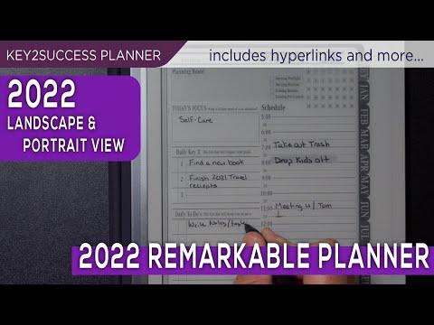 2022 Opmerkelijke digitale planner