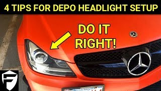 MERCEDES HOW TO: C-CLASS DEPO PROJECTOR HEADLIGHT SETUP TIPS