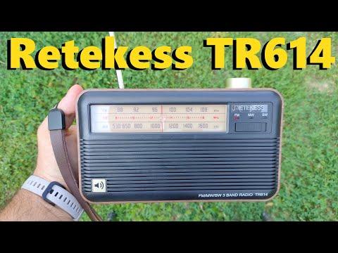 RETEKESS TR614 РАДИОПРИЕМНИК В РЕТРО СТИЛЕ FM/MW/SW для пожилых людей