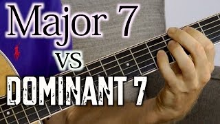 Major 7 vs Dominant 7 Chords