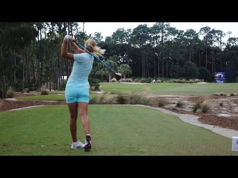 ANNA NORDQVIST 120fps DTL SLOW MOTION DRIVER GOLF SWING 2015 CME CHAMPIONSHIP 1080p HD