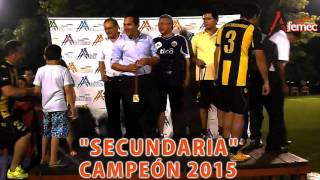 1  SECUNDARIA 1 vs MANTENIMIENTO 0  CAT EJECUTIVO 22 12 2015