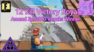 Fortnite OG Battle Royale 12 Kill Victory Live Steam V-Bucks Gagnant Roblox OOF Polo G Pop Out Brute