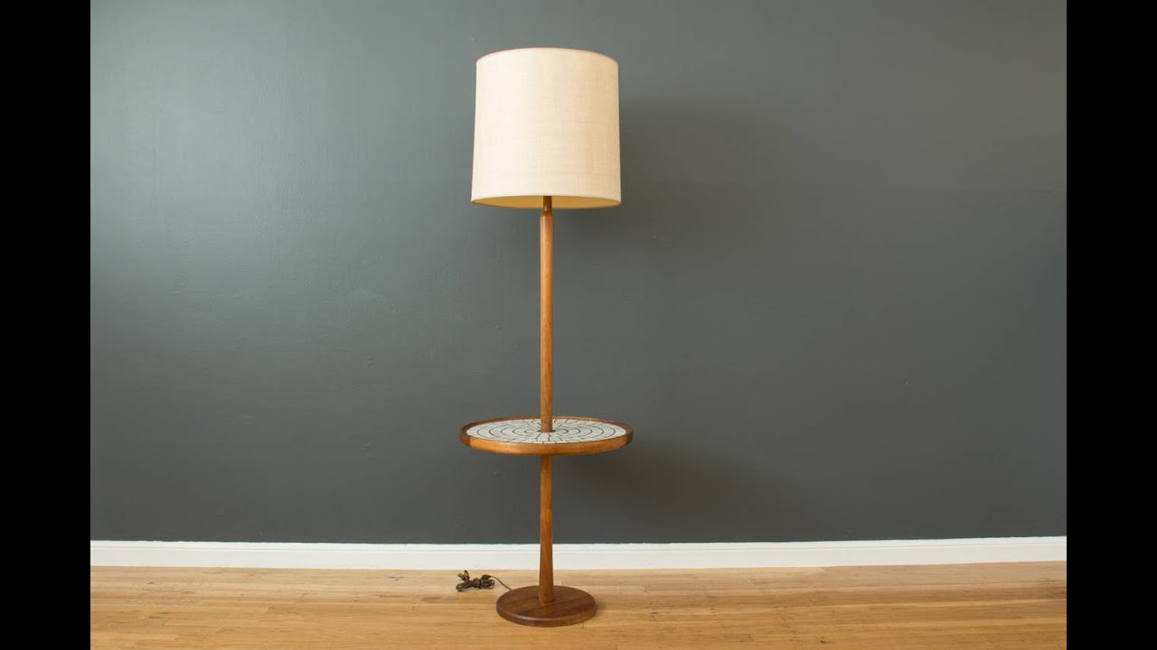 Wood floor lamp with table - Floor Lamp With Table
