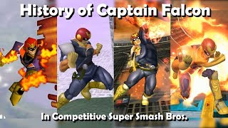 History of CAPTAIN FALCON in Competitive Super Smash Bros. (64, Melee, Brawl, Wii U) ft. Vish