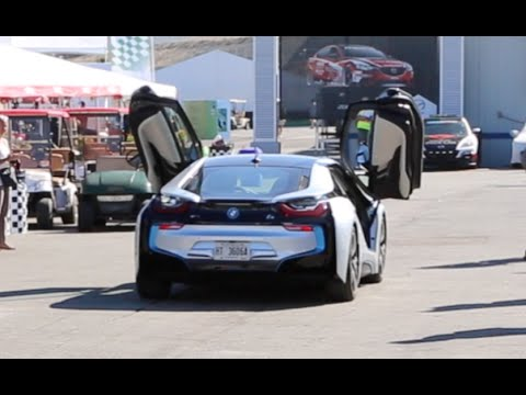 Bmw I8 Drives With Doors Open At Laguna Seca Youtube