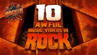 Gambar cover 10 Awful Music Videos In Rock | Rocked