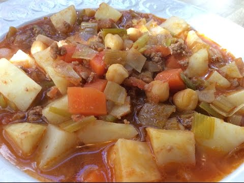 CELERY ROOT WITH GROUND BEEF - Aegean Cuisine Of Turkey - Mother-In-Law Recipes