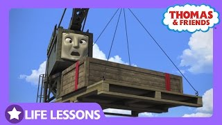 Cranky Dropped a Crate | Life Lesson: Admitting Your Mistakes | Thomas & Friends thumbnail