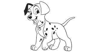 How to Draw 101 Dalmatians Step by Step - by Laor Arts