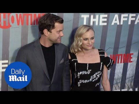 Diane Kruger and Joshua Jackson at The Affair premiere - Daily Mail