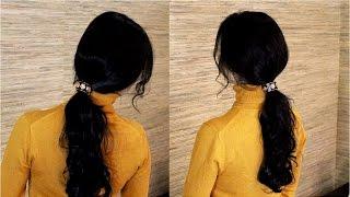 Прическа хвост  Прическа своими руками Tail hairstyle
