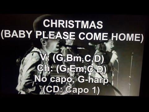 CHRISTMAS (BABY PLEASE COME HOME) - U2 - Lyrics - Chords -  AUDIO !!!