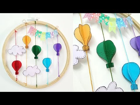 Easy Paper Wall Hanging - DIY easy wall hanging art tutorial - Wall decoration ideas