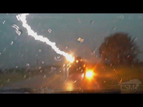 06-25-2021 Waverly, KS - Lightning Strikes Vehicle