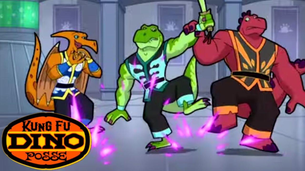 Kung Fu Dino Posse - Dino Snow Day | Full Episode | Kids