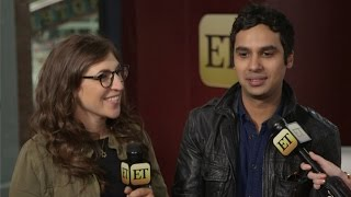 'Big Bang Theory' Stars Mayim Bialik and Kunal Nayyar Spill Season 9 Scoop
