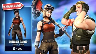 I said the RENEGADE RAIDER is in THE FORTNITE SHOP and that happened.