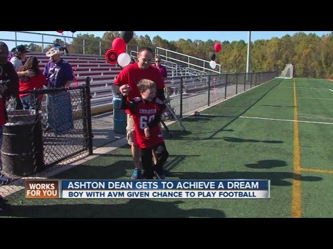 Maryland football team helps disabled boy achieve his dream.